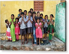 Acrylic Print featuring the photograph Kids by Tim Gainey