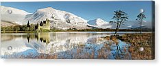 Acrylic Print featuring the photograph Kilchurn Castle - Loch Awe - Winter Morning by Grant Glendinning