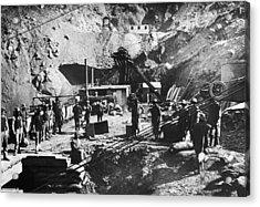 Kimberley Diamond Mine Acrylic Print by Hulton Archive