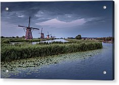 Kinderdijk Dark Sky Acrylic Print