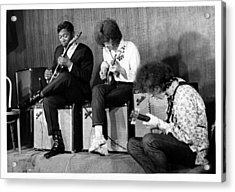 King, Clapton & Bishop Jam Acrylic Print by Michael Ochs Archives