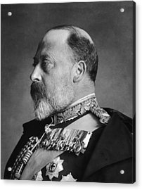 King Edward Vii Acrylic Print by General Photographic Agency
