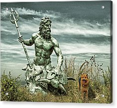 Acrylic Print featuring the photograph King Neptune And Miss Hanna At Cape Charles by Bill Swartwout Fine Art Photography