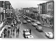 Kings Highway & East 15th St., Early Acrylic Print by Fred W. Mcdarrah
