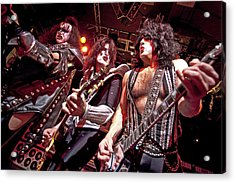 Kiss Perform At The O2 Islington Acrylic Print by Neil Lupin