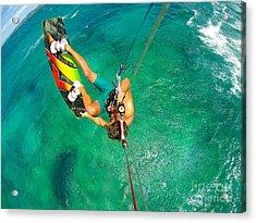 Kite Boarding. Fun In The Ocean Acrylic Print