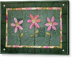 Kiwi Flowers Acrylic Print
