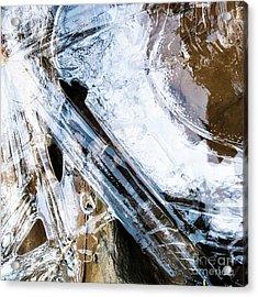 Acrylic Print featuring the photograph Heart Of Ice by Atousa Raissyan