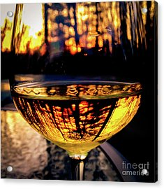 Acrylic Print featuring the photograph Sunset In A Glass by Atousa Raissyan