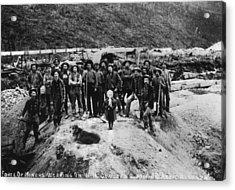 Klondike Miners Acrylic Print by Hulton Archive