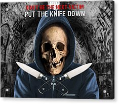Acrylic Print featuring the digital art Knife Crime Part 2 - The Next Victim by ISAW Company