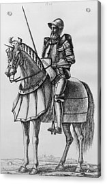 Knight In Armour Acrylic Print by Hulton Archive