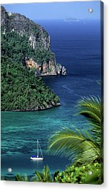 Ko Phi Phi Don, Yacht At Anchor Acrylic Print by John Seaton Callahan
