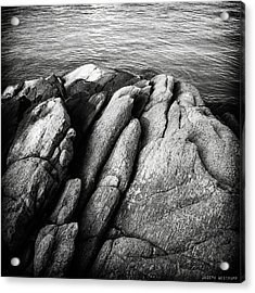 Ko Samet Rocks In Black Acrylic Print