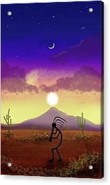 Kokopelli Dream World Acrylic Print