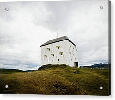 Acrylic Print featuring the photograph Kristiansten Fortress In Trondheim, Norway by Whitney Leigh Carlson