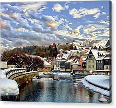 Kronach Winter Scene Acrylic Print