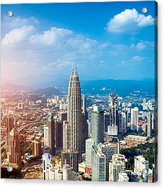 Kuala Lumpur Skyline, Malaysia Acrylic Print
