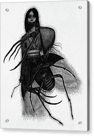 Kuchisake-onna The Slit Mouthed Woman Ghost - Artwork Acrylic Print