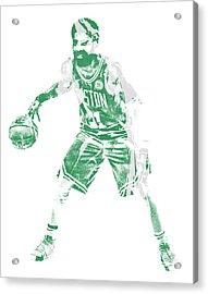 Kyrie Irving Boston Celtics Pixel Art 72 Acrylic Print