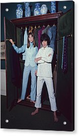 L-r Actress Jane Birkin And Pop-singer Acrylic Print by Bill Ray