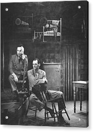 L-r Director Elia Kazan And Playwright Acrylic Print by W. Eugene Smith