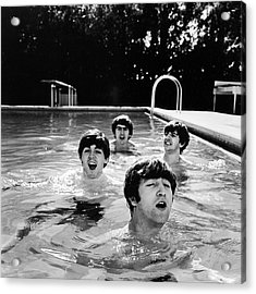 L-r Paul Mccartney, George Harrison Acrylic Print