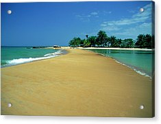 La Baie Des Sirenes Beach At Grand Acrylic Print by Myloupe/uig