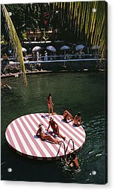La Concha Beach Club Acrylic Print by Slim Aarons