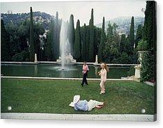 La Leopolda Acrylic Print by Slim Aarons