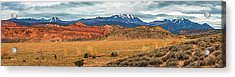 Acrylic Print featuring the photograph La Sal Mountains by Andy Crawford