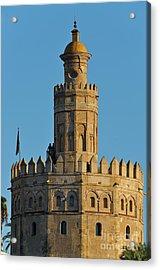 La Torre De Oro Detail. Seville Acrylic Print
