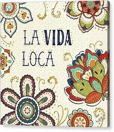 La Vida Loca II Acrylic Print by Veronique Charron
