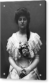 Lace Gloves Acrylic Print by Hulton Archive