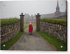 Lady In Red - Fortress Louisburg Acrylic Print