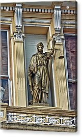 Lady Of Justice Isn't Blind Acrylic Print