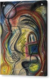 Lady With Purse Acrylic Print