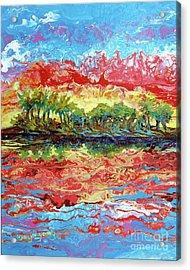 Lagoon Sunset Acrylic Print