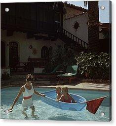 Laguna Beach Home Acrylic Print by Slim Aarons