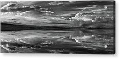 Lake Abert 11 Black And White Acrylic Print by Leland D Howard