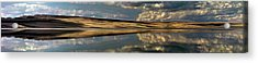 Lake Abert Panoramic Acrylic Print by Leland D Howard
