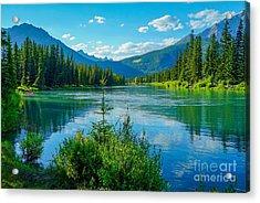 Lake At Banff Indian Trading Post Acrylic Print