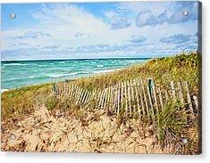 Lake Michigan Beachcombing Acrylic Print