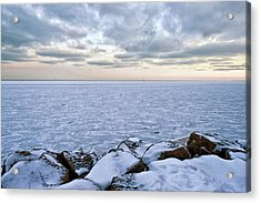 Lake Michigan Acrylic Print by By Ken Ilio