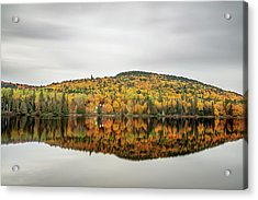 Acrylic Print featuring the photograph Lake Shore House In Autumn by Pierre Leclerc Photography