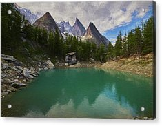 Lake Verde In The Alps II Acrylic Print