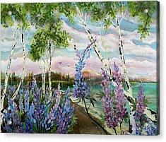 Lakeside Lupin Acrylic Print
