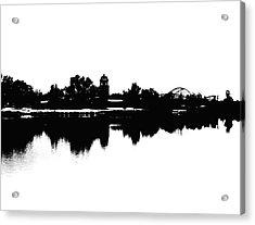 Lakeside Silhouette Acrylic Print