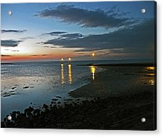 Lancashire. Knott End. Sunset.. Acrylic Print