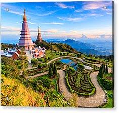 Landmark Unseen Thailand  Pagoda In Acrylic Print